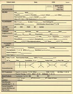 Downloadable report sheet for icu nursing pinterest nurse nacole nurse meets youtube bedside nursing documentation sheet surgical page pronofoot35fo Gallery