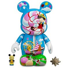 Kidada for Disney Store ''Let Your Conscience Be Your Guide'' Pinocchio Vinylmation -- 9''