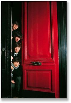 The Beatles behind the red door. Music Muse
