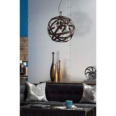 "Orbital Weave 19 1/2"" Wide Rust Metal Pendant Light - #Y1577 | LampsPlus.com"