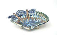 Dragonfly soap dish on Etsy, $32.00