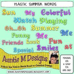 Auntie M Designs: Word Art