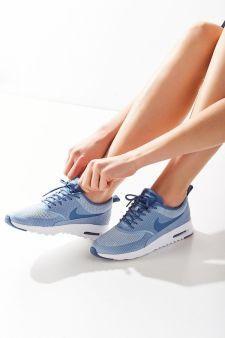 hot sale online a32e5 1b5c4 Nike Air Max Thea Textile Sneaker Blue Sneakers, Sneakers Nike, Nike Shoes,  Nike