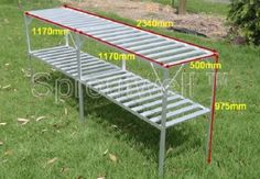 Shelving & Staging Kits :: Rear-Wall Kit :: Rear-Wall Staging Kit - Sproutwell Australia Polycarbonate Greenhouses Price: $177.00