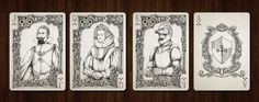 Medieval Playing Cards. Unlimited SILVER Edition. Clubs - Courts