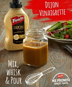 Ingredients  1/4 cup white wine vinegar  1/4 cup extra virgin olive oil  2 Tbsp. FRENCH'S® Dijon Mustard  2 Tbsp. brown sugar   Directions  WHISK all ingredients together until well combined.