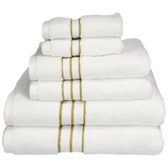 Superior 900 GSM Long Staple Combed Cotton Hotel Collection 6 Piece Towel Set White with Toast Border Egyptian Cotton Towels, Turkish Cotton Towels, Black And White Towels, Superior Hotel, Where To Buy Bedding, Linen Store, Luxury Towels, Bedding Sets Online, Face Towel