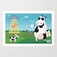Old MacDonald's Farm Art Print by Duck Duck Moose - $15.60