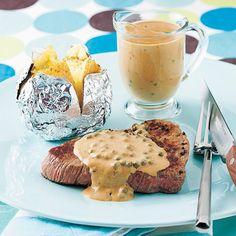 Steaks au poivre Steak Au Poivre, Calories, Camembert Cheese, Steaks, Panna Cotta, Breakfast, Ethnic Recipes, Food, Seafood