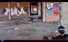 L'audacia dei droni con telepresenza virtuale Volando a 65-70 Km/h per le sale di un ospedale abbandonato in Spagna, con il sibilo che sembra quello di un crudele frullatore. Se cercate una sequenza video in grado di farvi abbassare la testa, pi #droni #sport #acrobazie #tecnologia