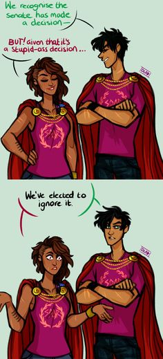 so… @lililibird suggested roman!piper and roman!percy as praetors and i just.