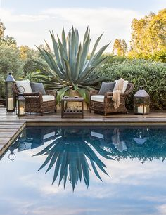 Design Ed-Scott Shrader Garden Design scott schrader pool sitting area-rough luxe lifestyle Outdoor Rooms, Outdoor Gardens, Outdoor Decor, Outdoor Living, Outdoor Landscaping, Outdoor Plants, Outdoor Ideas, Landscape Design, Garden Design