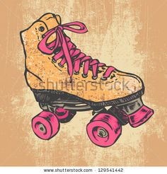 Find Retro Roller Skate Grunge Texture Background stock images in HD and millions of other royalty-free stock photos, illustrations and vectors in the Shutterstock collection. Roller Derby, Retro Roller Skates, Roller Skating, Roller Disco, Skate Tattoo, Wonder Woman Drawing, Really Cool Drawings, Illustration, Free Vector Art