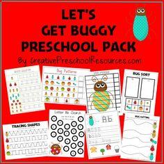 FREE Bug Pack for Preschool or beginning of K