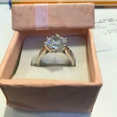 3 Carat Lab Created Diamond Ring Gorgeous NSCD Sona Diamond in S 925 setting. Just as brilliant and radiant as a diamond. Comes with NSCD certificate, no box.  Comment size, and I'll make you a listing! Jewelry Rings