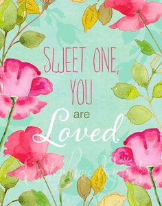 Watercolor Illustration Print Sweet One
