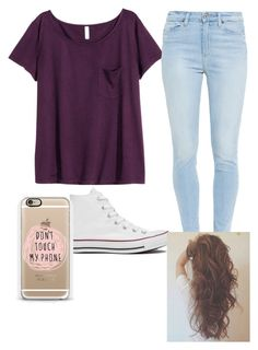 """Untitled #217"" by malaiah8103 ❤ liked on Polyvore featuring H&M, Paige Denim and Converse"