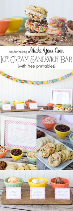 Tips for Hosting a Make Your Own Ice Cream Sandwich Bar #yearofcelebrations