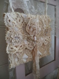 Romantic lace bag by Lilla on Etsy
