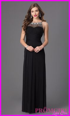cool Black prom dress