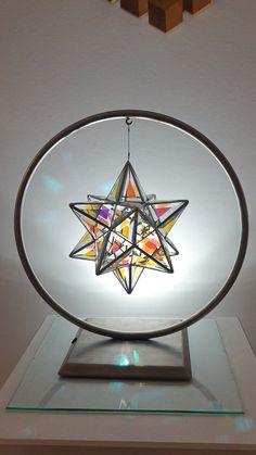 Scorpius - Great Stellated Dodecahedron Sacred Geometry by Asaf Zakay Broken Glass Art, Sea Glass Art, Stained Glass Art, Fused Glass, Sacred Geometry Art, Geometry Tattoo, Glass Art Design, Glass Artwork, Geometric Art