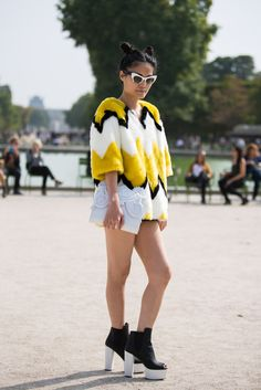 Les plus beaux streetlooks de la Fashion Week de Paris #Fur #Fashion