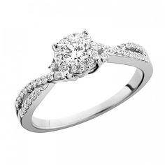 Masterpiece Diamond Engagement Round Ring - Engagement - Rings