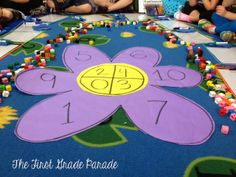 Plants Aplenty! LOVE this Flower Power Addition/Subtraction Game Idea!