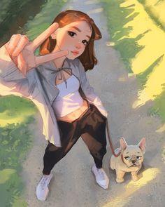 Cartoon Girl Images, Cute Cartoon Girl, Cartoon Girl Drawing, Cartoon Art Styles, Cartoon Drawings, Girly Drawings, Digital Art Girl, Anime Art Girl, Cute Art