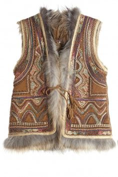 Abree Hand Embellished Fur Lined Vest  | Calypso St. Barth