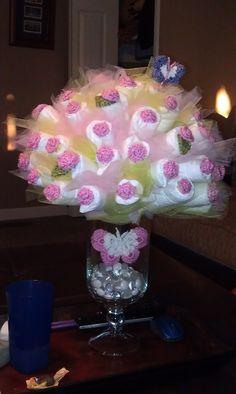 Diaper Bouquet. Super adorable!