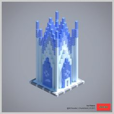 Shared by MCNoodlor. The Complete ChunkWorld Minecraft Ice Castle, Minecraft Plans, Amazing Minecraft, Minecraft Tutorial, Minecraft Blueprints, How To Play Minecraft, Minecraft Kingdom, Minecraft Secrets, Minecraft Decorations
