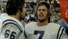 ELMER COLLETT (66) and BERT JONES (7)--1975