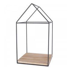 Smallable Home Haus aus Holz und Metall  Schwarz