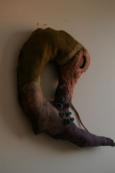 hand felted wall hanging sculpture