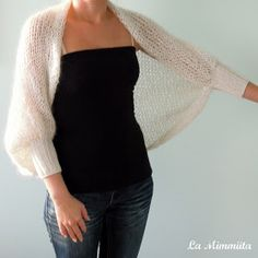A bolero from a rectangle the scheme Bolero s prяmougolьnikа shemаOne Piece Fold and Seam Knitting PatternsSuper Easy Slippers to Crochet or to Knit Bolero Sweater, Knit Shrug, Knitted Poncho, Gilet Crochet, Knit Crochet, Crochet Hats, Crochet Shrugs, Crochet Sweaters, Crochet Pattern