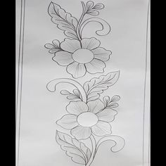 Beautiful Flower Drawings, Flower Art Drawing, Floral Drawing, Flower Painting Canvas, Diy Canvas Art, Fabric Painting, Hand Embroidery Videos, Embroidery Art, Indian Flag Wallpaper