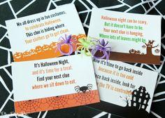Free printable Halloween scavenger hunt perfect for Halloween parties