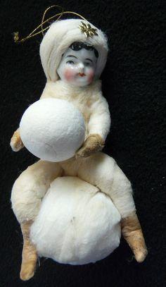 Christbaumschmuck aus watte mit Antike Puppe Porzellankopf in Sammeln & Seltenes, Saisonales & Feste, Weihnachten & Neujahr | eBay!