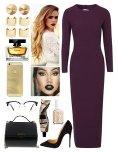"""""""Plum."""" by kcliffxx on Polyvore featuring Topshop, Christian Louboutin, Givenchy, Luv Aj, Eddie Borgo, Dolce&Gabbana, Essie, Aesop, GlassesUSA and women's clothing"""