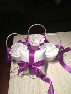 Flower Girl Baskets And Ring Bearer $55