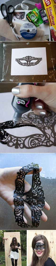 Add a masquerade mask. | 23 Ways To Glam Up Your Little Black Dress>>>> oh my gosh!!!! How much fun would this be!!! I love this! Most definitely going to try this!!!!