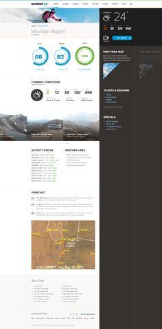 Mtn_report_full_pixels NS: Makes max use of contrast layout Site Web Design, News Web Design, Homepage Design, Web Design Trends, App Design, Make Up Guide, Interactive Web Design, Web Portfolio, Ui Design Inspiration