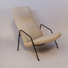 Alf Svensson; Enameled Metal 'Contourette' Armchair for Ljungs Industrier, 1950s.