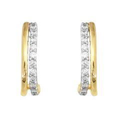 Boucles D'oreille Collection Perles de Culture argent et or