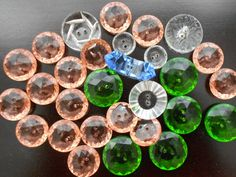 Vintage Depression Era Glass Buttons. $32.50, via Etsy.