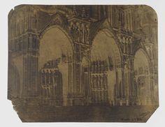 Charles Nègre | Portaal aan de zuidzijde van de kathedraal van Chartres, Charles Nègre, c. 1851 - c. 1854 |