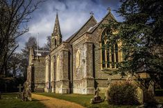 A lovely picture of a church in Hampshire taken using my Canon tilt shift lens