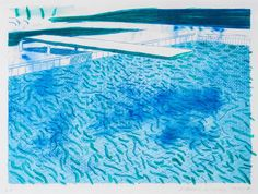 jimlovesart: David Hockney - Swimming Pool 1980. Tagged: art david hockney
