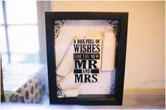 A box full of wishes for the new Mr. and Mrs.  Jen + Steven // Married at Duportail House
